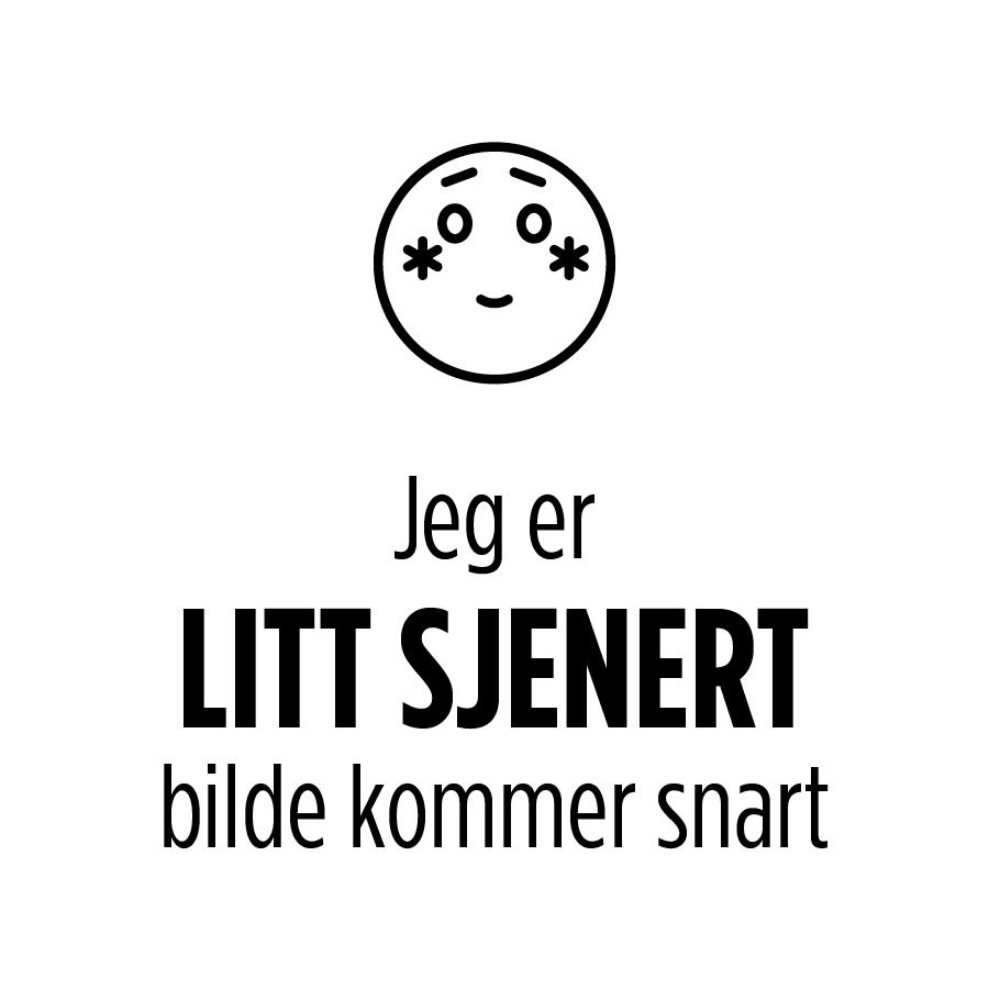 TEKSTILSETT 5 DELER MØRK GRÅ ,S/H STRIPER