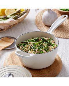 Oppskrift: Kremet risotto med asparges og erter
