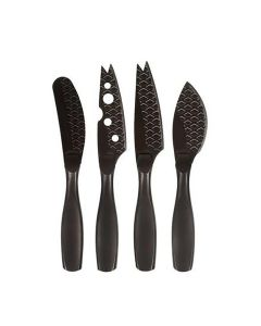 Cheese Knife Set Mini Monaco+ Black