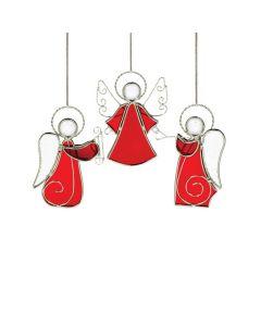 Hadeland Glassverk Tiffany Engel 3pk Rød