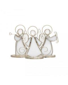Hadeland Glassverk Tiffany Engel Står 3pk Hvit