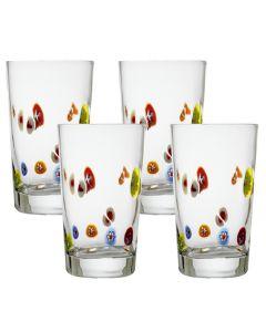 Hadeland Glassverk Flower Power Glass 20cl 4pk