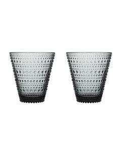 Iittala Kastehelmi Glass 2pk Grå