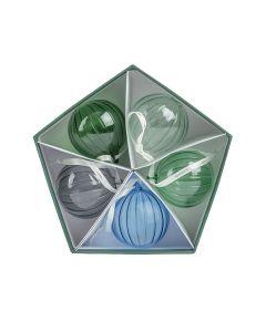 Hadeland Glassverk Julekule Grønnklang 5pk
