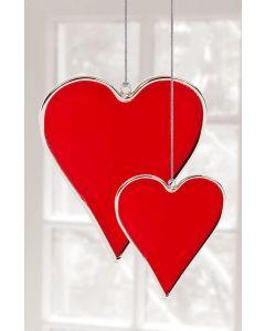 Hadeland Glassverk Tiffany Hjerte 2pk Rød