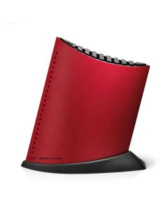 Global Knivblokk Sort m/Røde Prikker