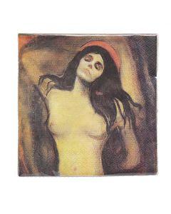 Porsgrunds Porselænsfabrik Munch Serviett Madonna 33X33cm