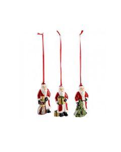 Villeroy & Boch Christmas Toys Boch Juletrepynt Julenisser 3pk