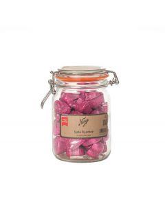 Norgesglasset Norgesglass Sjokoladehjerter Rosa