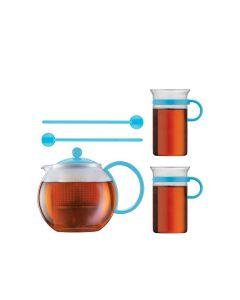 Bodum Assam Tekanne 1L, 2stk Glass + 2Skj