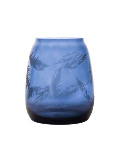 Hadeland Glassverk Stille Bevegelser Vase 200Mm Blå