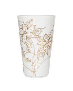Porsgrunds Porselænsfabrik Vase Maud Indian Blossom Gold 18cm