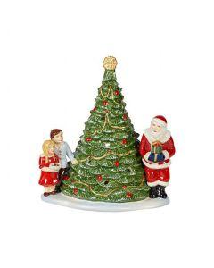 Villeroy & Boch Christmas Toys Lyslykt Juletre Og Julenisse Med Barn.
