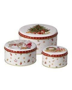 Villeroy & Boch Christmas Toys Kakebokser I Metall 3pk