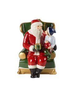 Villeroy & Boch Christmas Toys Figurin. Julenisse Med Barn.